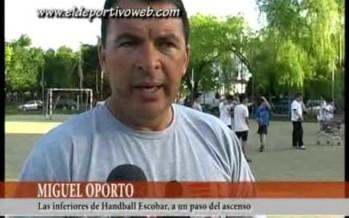 Los equipos del handball de Escobar, cerca del ascenso en inferiores