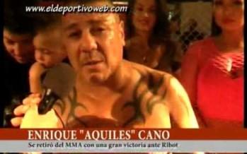 """Aquiles Cano: """"Lo pude finalizar haciéndole una llave en el brazo"""""""