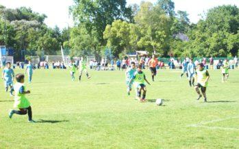 Doble55inco recibió a Racing y jugaron partidos amistosos en Loma Verde