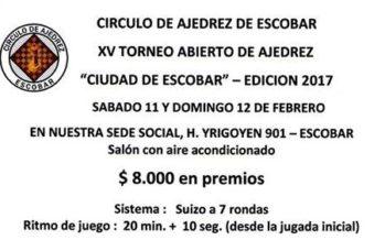"""Llega la 15º edición del Abierto """"Ciudad de Escobar"""""""