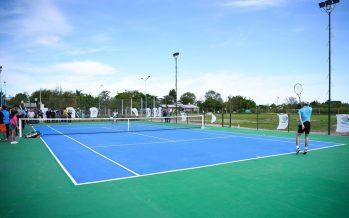 El polideportivo de Matheu ya tiene sus nuevas canchas de tenis, de cemento