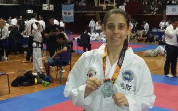 María Belén Greschner, medalla de plata en el nacional de taekwondo