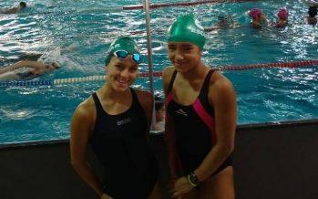 Las nadadoras Fernández y López Schrock compitieron en el Nacional de Neuquén