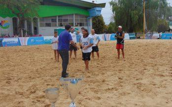Escobar salió 2° en el Torneo de Verano de fútbol playa jugado en el polideportivo