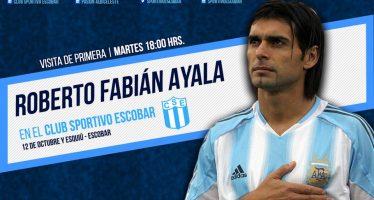 El ex futbolista Roberto Ayala estará este martes en la cancha de Sportivo