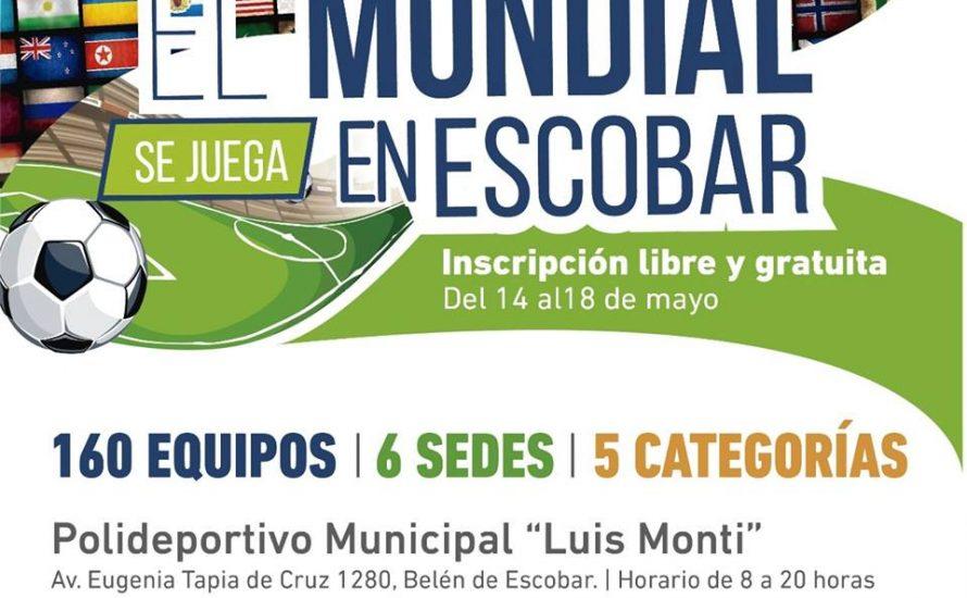 La Municipalidad de Escobar organiza un torneo de fútbol 5 con formato de Mundial
