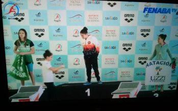 Leguiza, nadadora del CAIDE, sacó medalla de plata en el Torneo Nacional
