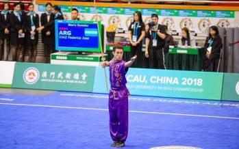 Escobarense por el mundo: compitió en wushu kung-fu en Brasil y China