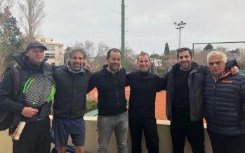 CAIDE salió campeón interclubes de tenis con el equipo de +45 años