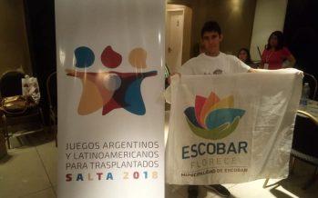 Un escobarense compite en los Juegos Latinoamericanos para trasplantados