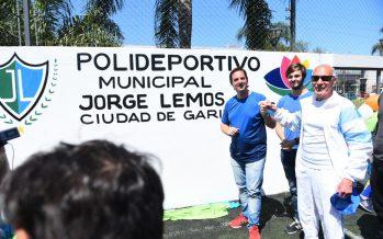 El polideportivo anexo de Garín ahora lleva el nombre de Jorge Lemos