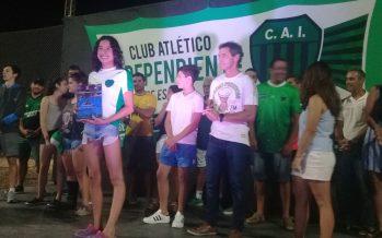 Macarena Giménez, la deportista del año en la Fiesta del Club Independiente