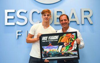 El campeón de la Fórmula Renault, Nicolás Varrone, fue recibido por Sujarchuk