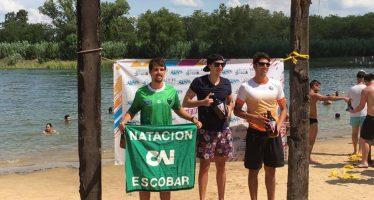 Podios para tres nadadores del Club Independiente en aguas abiertas de Pilar