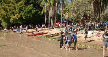 Esta vez la regata Vuelta al Carabelas fue para un palista de Tigre